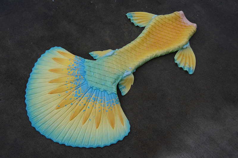 Completed 2020 | Gold and Blue Betta Tail | Featuring: Aphrodite Fluke, Galatea Hip Fins, Ceto Ankle Fins