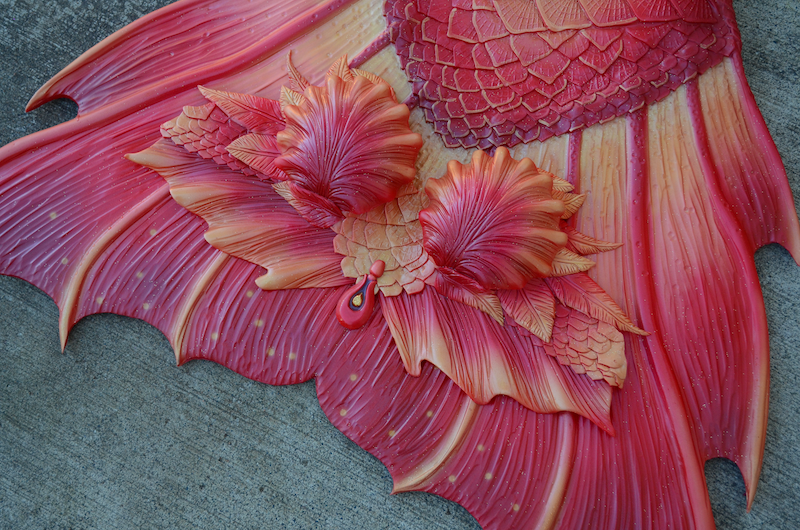 Completed 2020 | Red Phoenix Silicone Mermaid Swim Top